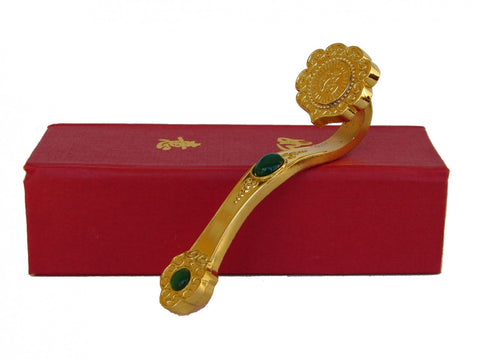 Golden Ru Yi Scepter with Auspicious Word - Asianly