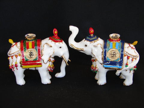 Pair of Precious White Elephants - Asianly