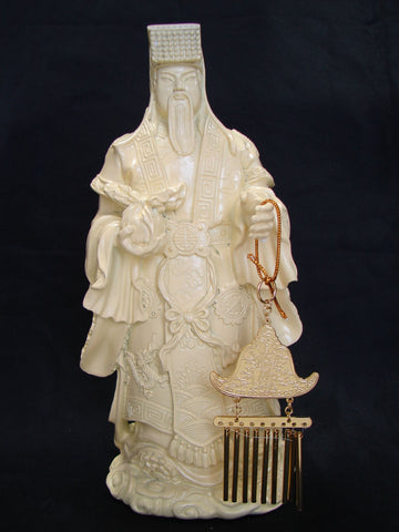Jade Emperor with Sun & Moon Windchime - Asianly