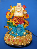 Buddha Water Fountain with Dragon - Asianly