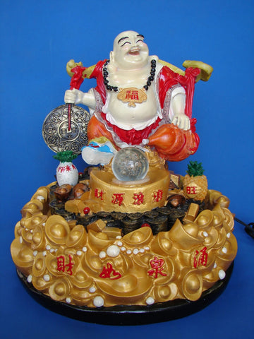 Buddha Water Fountain Carrying Coin and Wu Lou - Asianly