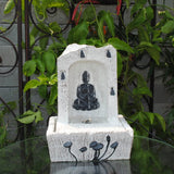 LED Buddha Indoor Tabletop Fountain - Asianly
