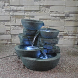 Modern Bowls Fountain with LED Lights - Asianly