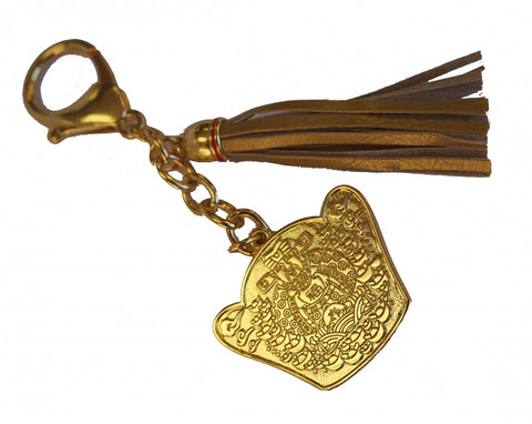 God of Wealth Amulet Keychain - Asianly