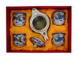 Chinese Style Tea Set with Dragon Phoenix Pictures - Asianly