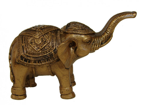 Bronze Trunk Up Elephant Statues - Asianly