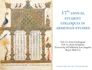 17th Annual UCLA Graduate Student Colloquium in Armenian Studies