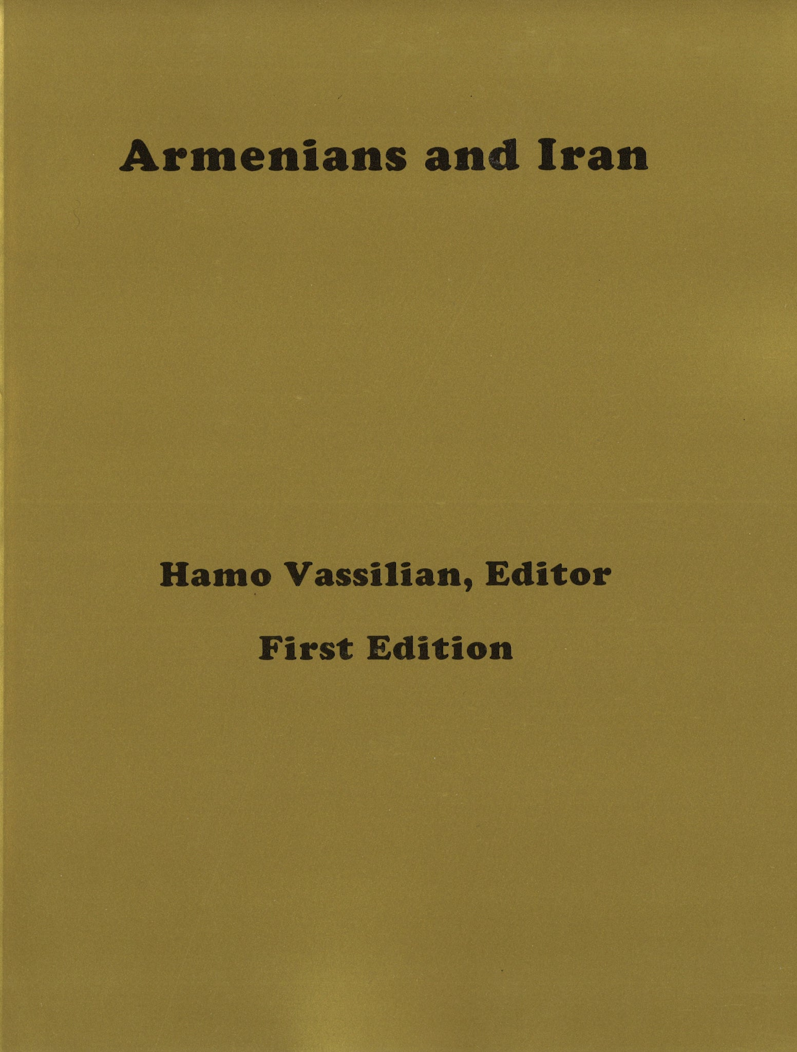 ARMENIANS AND IRAN
