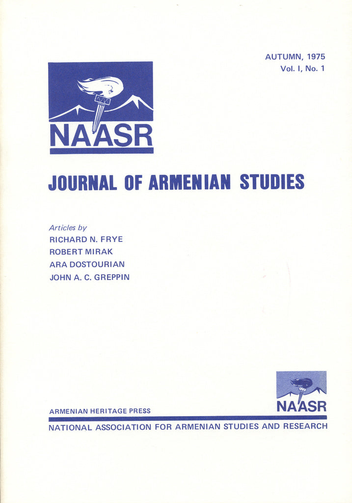 JOURNAL OF ARMENIAN STUDIES: Volume I, Number 1: Autumn 1975