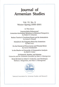 JOURNAL OF ARMENIAN STUDIES: Volume VI, Number 2: Winter/Spring 2000-2001