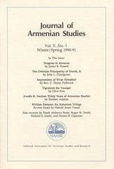 JOURNAL OF ARMENIAN STUDIES: Volume V, Number 1: Winter/Spring 1990-1991