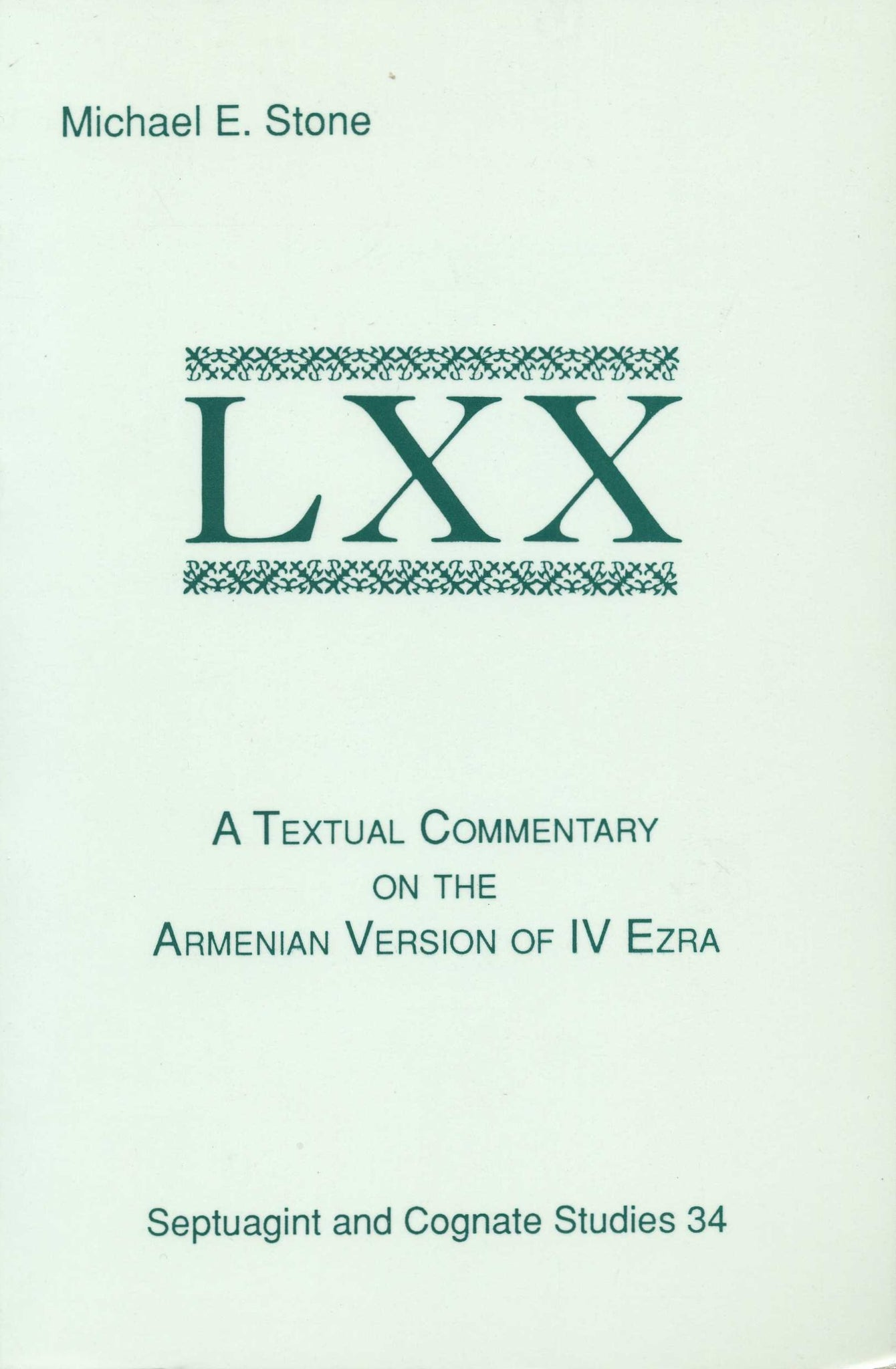 TEXTUAL COMMENTARY ON THE ARMENIAN VERSION OF IV EZRA
