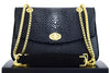 D'Monti Kate Luxe Genuine Stingray Leather Small Shoulder Bag | Golden Metalwork