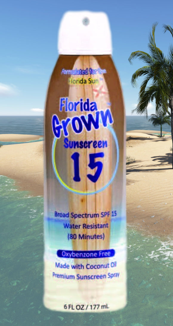 Sunscreen that is Reef Safe and Oxybenzone-Free to protect your skin and body from the sun, and to protect the environment from harmful chemicals. Florida Sunscreen, Florida Salt Scrubs, Avobenzone, Octocrylene, Homosalate and Octisalate.  Florida Sunscreen is also Paraben Free, PABA Free, 100% Vegan, non-greasy, Coconut Oil, Reef Safe, Oxybenzone, Octinoxate, Butylparaben and 4-Methylbenzylidine Camphor, non-carcinogenic, safe for body, SPF 30