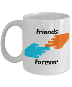 Best Friends Forever Gift Mug. Great for Christmas, Birthday, Appreciation, Thinking of You for friend, sister, brother, mother, daughter, father, son