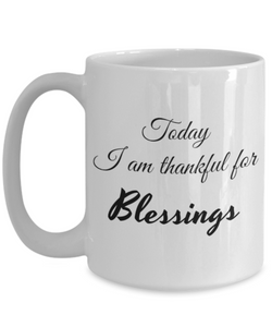 Thankful for Blessings 15 oz Mug