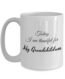 Thankful for My Grandchildren 15 oz Mug
