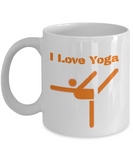 I Love Yoga Mug White
