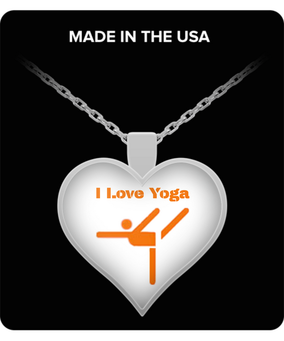 Heart-Shape Pendant Necklace - I Love Yoga