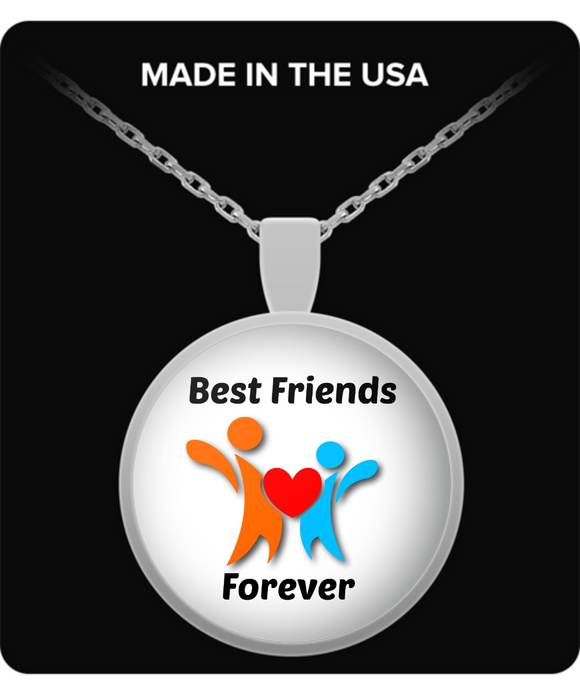 Best Friends Forever Pendant Necklace. Great for Christmas, Birthday, Appreciation, Thinking of You for friend, sister, brother, mother, daughter, father, son