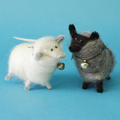 Wee Wooly Sheep Soft Sculptures by Anne Carroll Gilmour