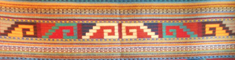 Grecas design in Zapotec rug by Francisco Bautista