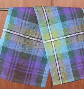 Handwoven kitchen towel in Isle of Skye Tartan Pattern by Anne Carroll Gilmour