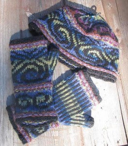 Aotearoa/Tai Hur-Huri Mitts Knitting Pattern by Anne Carroll Gilmour