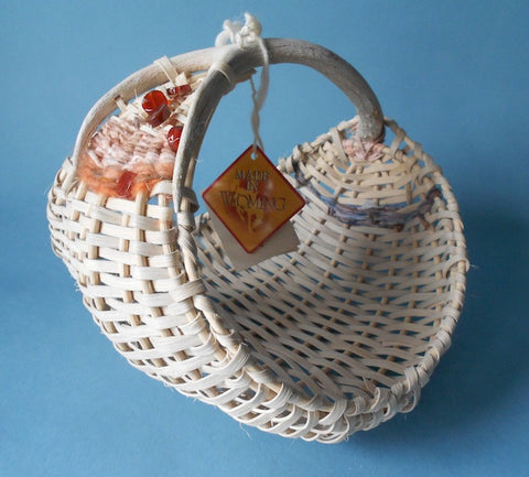 Antler Hen Basket with Hand-Dyed Mulberry Paper