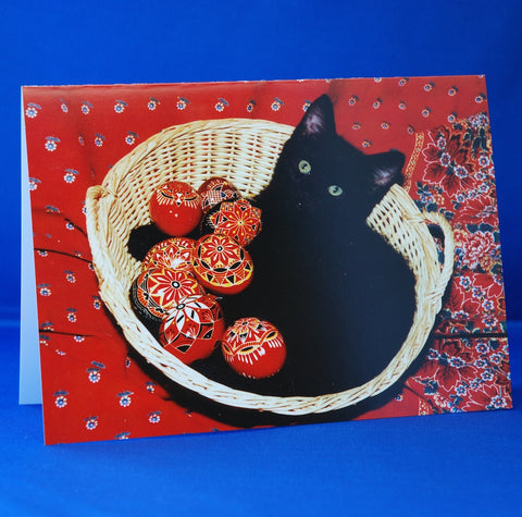 Cat Immersed in the Czech & Slovak Culture—Greeting Cards