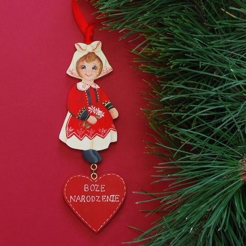 Scandinavian Christmas Ornament—Polish Round-the-World Girl