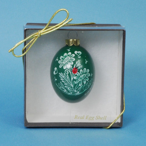Chicken Egg Ornament by Daniela Mahoney—Ladybug Design