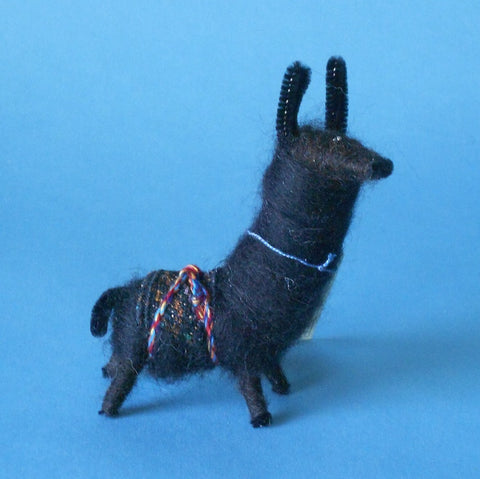 "The name of this ""Dolly Llama"" soft sculpture is ""Ben."""