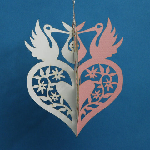 Papercut Ornament—Stork