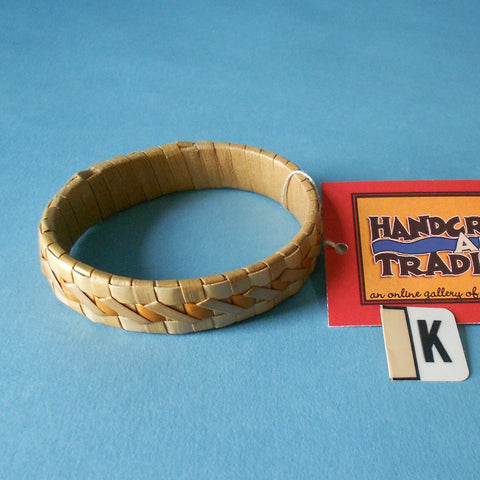 Natural lauhala bracelet made on Hawaii's Big Island