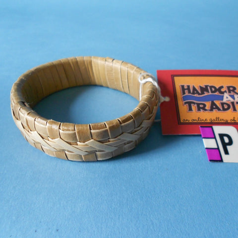 Large-sized lauhala bracelet from Hawaii