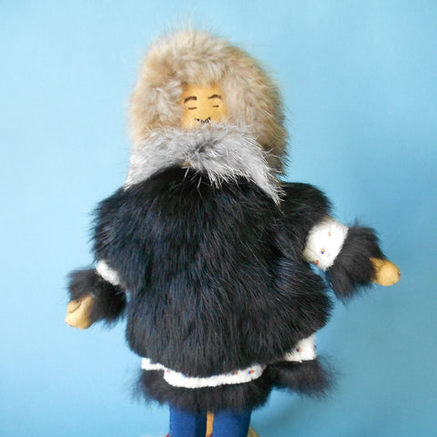 This Man Doll by Native Alaskan artist Sophie Charlie is covered almost from head to foot in fur harvested from the region.