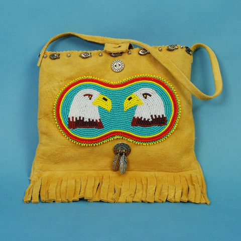 Native American Beaded Eagles Handbag