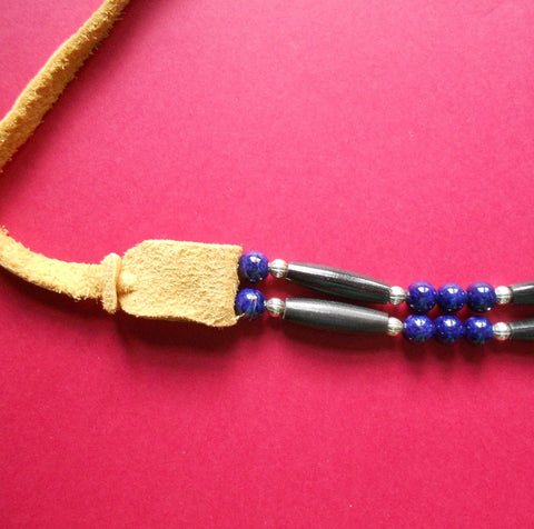 Native American Choker in Blue & Black