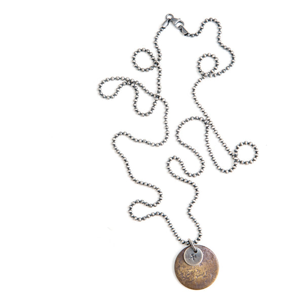 Tag Chain Necklace Brass - BASKE California Footwear