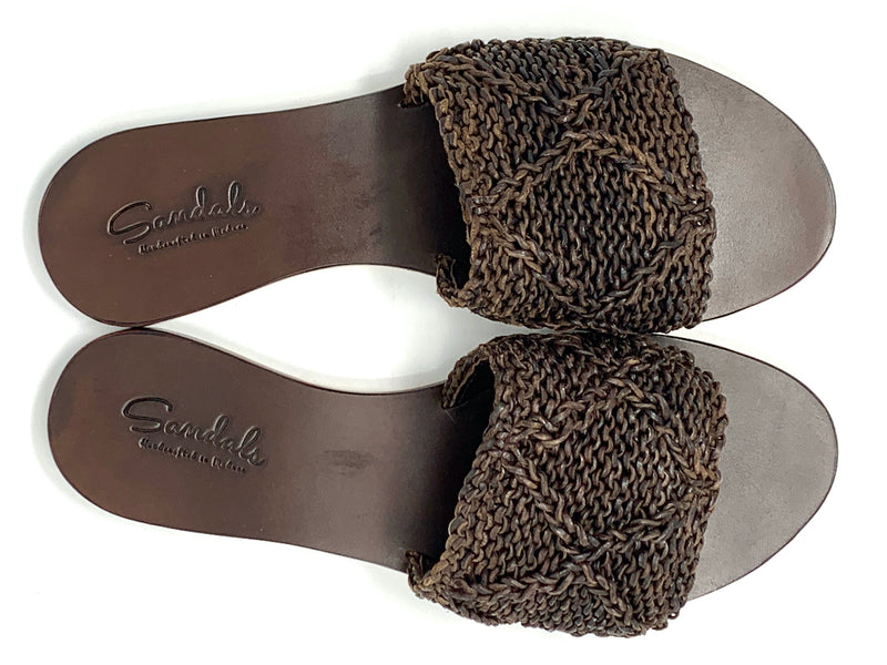 Knit band Brown
