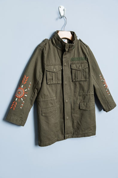 Kids Green Military Jacket
