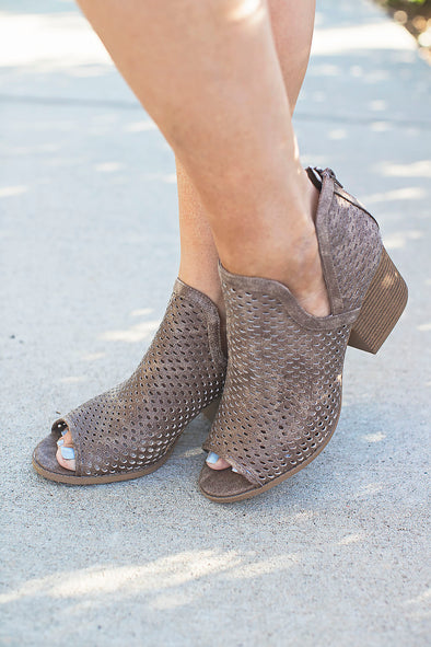 Taupe Emily Wedges