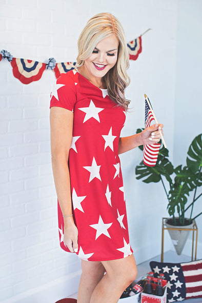 Red Star Spangled Dress