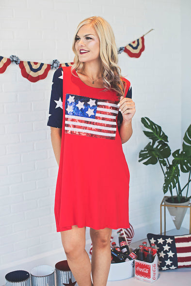 Land Of The Free Sequin Dress