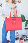Kourtney Red Bow Handbag