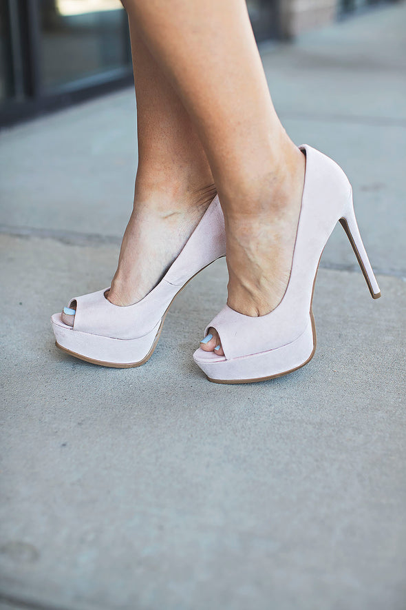 Nude Open Toe Stiletto