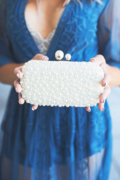 Pearl Chantelle Clutch Ivory