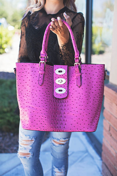 Fuchsia Kourtney Handbag