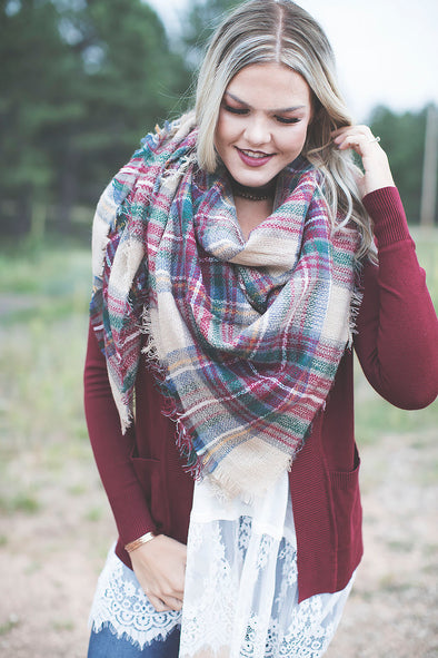 The Perfect Fall Blanket Scarf